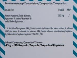 Activalue Hyaluron Kapseln Inhaltsstoffe - Beitragsbild 2