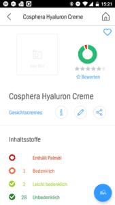Cosphera Hyaluron Creme Testbericht von Codecheck