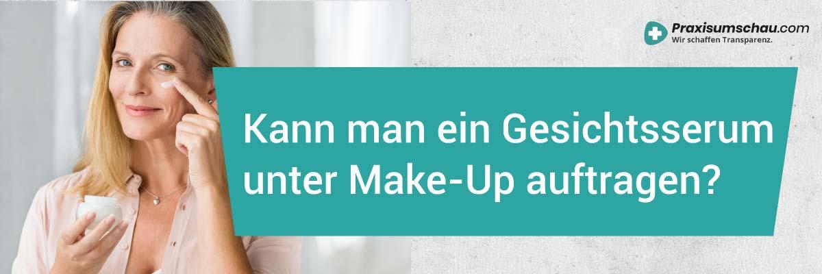 Hyaluron Gel Test Kann man ein Gesichtsserum unter Make Up auftragen?