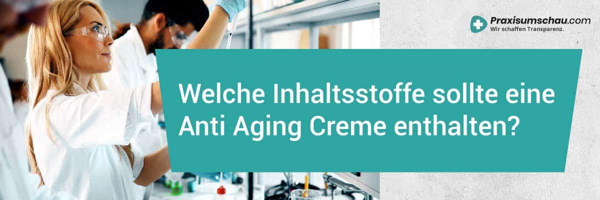 Welche Inhaltsstoffe sollte eine Anti Aging Creme enthalten?
