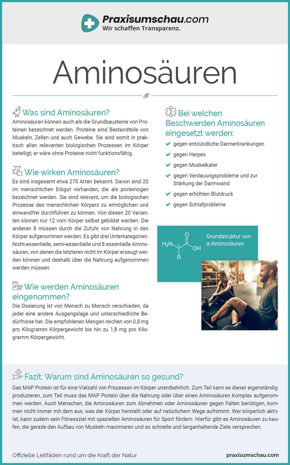 Infografik Aminosäuren Lietfaden Praxisumschau