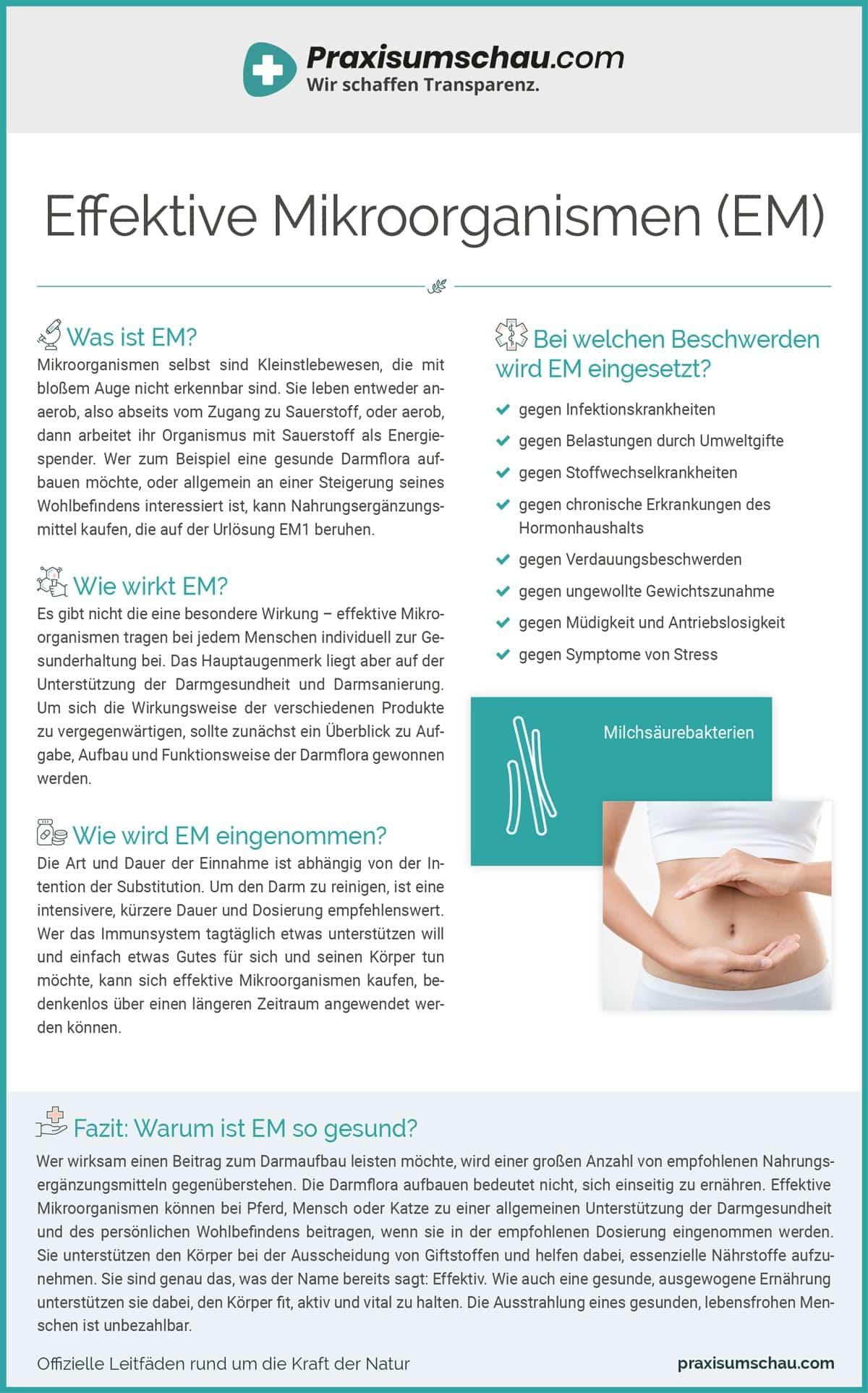Effektive Mikroorganisme infografik