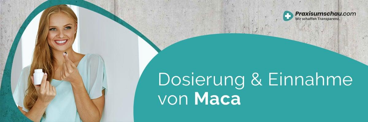 Dosierung und Einnahme Maca