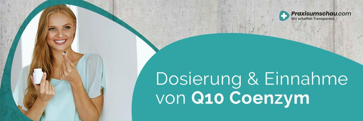 Dosierung und Einnahme Q10 Coenzym